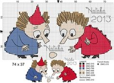 "Photo from album ""Schemi - Natalia/ Схемы - Natalia"" on Yandex. Blackwork Embroidery, Diy Embroidery, Cross Stitch Embroidery, Cross Stitch Patterns, Simple Cross Stitch, Cross Stitch Baby, Knitting Charts, Knitting Patterns, Les Moomins"