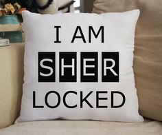 "14x14"" Fan Pillow Inspired by Sherlock Super awesome & cuddly fan-pillow! Features: - 100% Polyester - Machine washable"