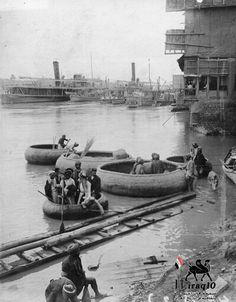Río Tigris, en 1910. Todavía hay guffas como las describió Heródoto.