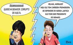 Senador ladrão da Bolívia pode ser presidente do Senado brasileiro