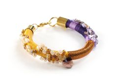 Statement Rope Bracelet Stackable Bracelet Purple by KiaFilStudios