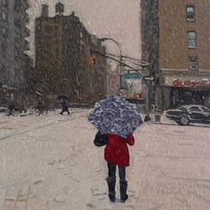East Side Snow - 14 x 14