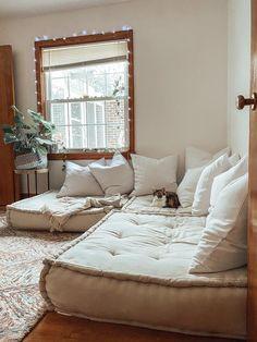 Reema Floor Cushion, Living Room Decor, Bedroom Decor, Living Room Seating, Living Room No Couch, Guest Room Decor, Meditation Room Decor, Floor Seating, Aesthetic Room Decor