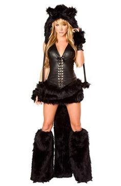 Latex/PVC/Vinyl & Cotton Black Set One Size Adult Costumes  Style Code: 07416  US$50.49