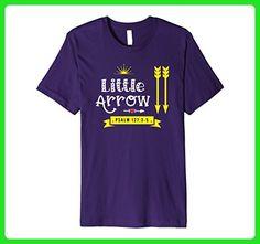 Mens Little Arrow Psalm 127: 3-5 Shirt Family Christian PREMIUM W Medium Purple - Relatives and family shirts (*Amazon Partner-Link)