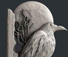 STL models for CNC, Artcam, Aspire, relief raven Pennywise Poster, Dad Crafts, Stl File Format, Bird Free, Cnc Machine, Cnc Router, Raven, Models, Clay Ideas