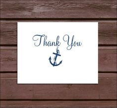 100 Nautical Beach Thank You Notes. Price by creatingapapermemory, $35.00