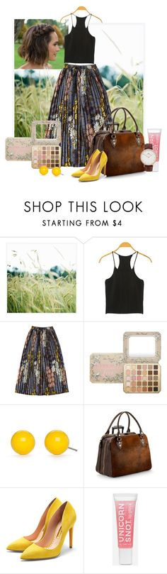 """Untitled #190"" by jonestyle ❤ liked on Polyvore featuring Pottery Barn, Too Faced Cosmetics, Kim Rogers, Aspinal of London, Rupert Sanderson and Daniel Wellington"