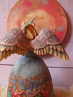 Handmade Angels, Ceramic Angels, I Believe In Angels, Ange Demon, Angel Pictures, Angels Among Us, Country Paintings, Clay Figures, Angel Ornaments