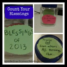 Blessing Jar: Start the year off by keeping track of all the good stuff that happens