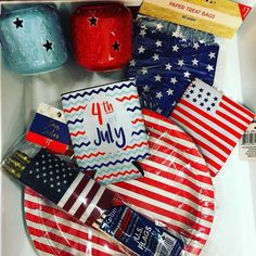 #4thofjuly is in one week.. Target's  #dollarspot has you covered for #party #decorations.  Only $1.00 each - Score