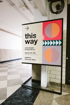 Directional signage for way finding. Wayfinding arrows and guidance in a shopping mall. Font Design, Design Typography, Design Poster, Signage Design, Web Design, Branding Design, Store Signage, Retail Signage, Event Signage