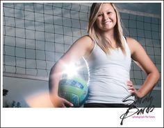 senior portrait - volleyball