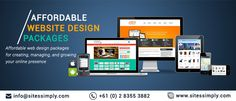 Want to create a website on a low budget? Check out some of the most affordable website design solutions comprising small, medium and large packages to serve your business needs in the best possible manner. Under our Affordable website design packages we offer a range of best solutions for companies looking for responsive website design, custom wed designing services, mobile-friendly designs, and ecommerce web designs. Reach us at info@sitessimply.com now for free consultation and best…