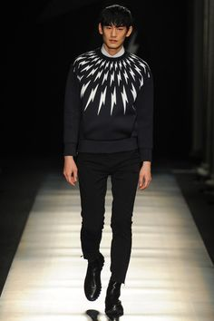 Neil Barrett Fall/ I love the feeling this entire collection evokes-and lightning bolts