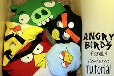 halloween costumes angry birds family tutorial