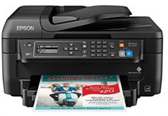 Epson WorkForce All-in-One Wireless Color Printer with Scanner Copier Fax Ethernet Wi-Fi Direct and NFC Wireless Printer, Wireless Lan, Printer Scanner, Inkjet Printer, Smartphone Printer, Best Laser Printer, Printer Types, Printers On Sale, Best Printers