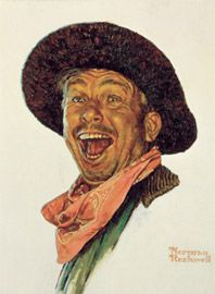 Norman Rockwell's portrait of Slim Pickens for the movie Stagecoach.