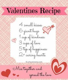 Sweet Recipe For Valentine S Day Poem Cindy