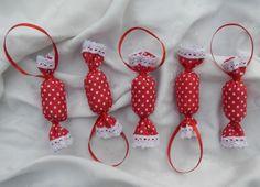Piros pöttyös szaloncukor, Dekoráció, Karácsonyi, adventi apróságok, Karácsonyfadísz, Karácsonyi dekoráció, Meska
