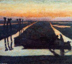 Broek in Waterland, Oil On Canvas by Jean Theodoor Toorop (1858-1928, Indonesia)
