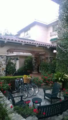 """Today, this is the La Playa Hotel, Carmel, Ca., the origin of which was a private residence featured in """"A Portal in Time"""""""