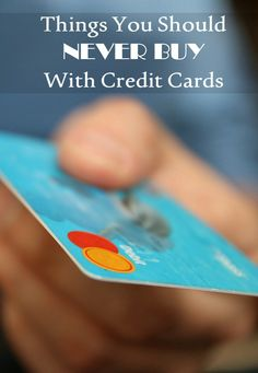 Let's talk money tips! Did you know there are certain things you should NEVER buy with credit cards? Find out exactly what they are and save money today!