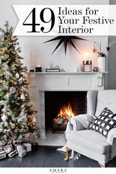 Christmas Decorating Ideas | Create the perfect Christmas interior this season with our selection of top tips from the experts. Think festive chic with a hint of sparkle...