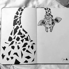 Cute!! #giraffe #art #drawing