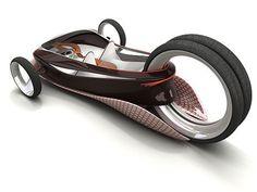 Futuristic Three Wheel Car Concept by Matus Prochaczka