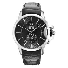 Montre Cerruti 1881 Recanati / Cuir Noir CRA075A222B Omega Watch, Smart Watch, Watches, Cerruti 1881, Leather, Steel, Accessories, Clock Art, Black Leather