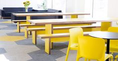 sir john cass hall long yellow benches