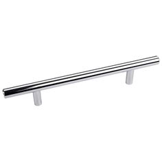 This polished chrome finish oversized cabinet bar pull with beveled edge design is a part of the Naples Series from the Elements Collection by Hardware Resources and is perfect for use on cabinet doors and drawers capable of accepting a mounted pull.