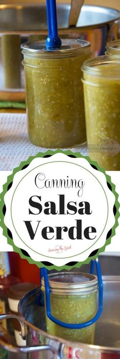 Simple instruction on how to create and water bath can fresh salsa verde. Green salsa is so delicious and with this recipe you can enjoy it year round.