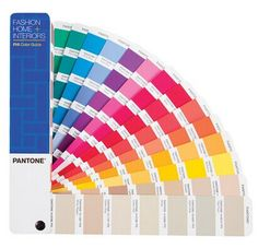 Pantone's Fashion, Home + Interiors Color Guide book lets designers envision color on hard and soft products in one portable tool. Interior House Colors, Home Interior, Color Palet, Pantone Color Book, Ral Colours, Paper Fans, World Leaders, Color Card, Guide Book