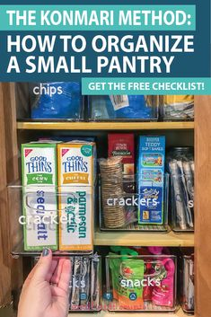 Organize a small pantry with the KonMari + Free Checklist method – Kitchen Pantry Cabinets Designs