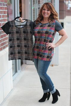 b2e1c8a0c6d642 Casual top with faux leather cap sleeves -  26 To order  call the boutique  at 317-889-1150 or email jen jendaisy.com