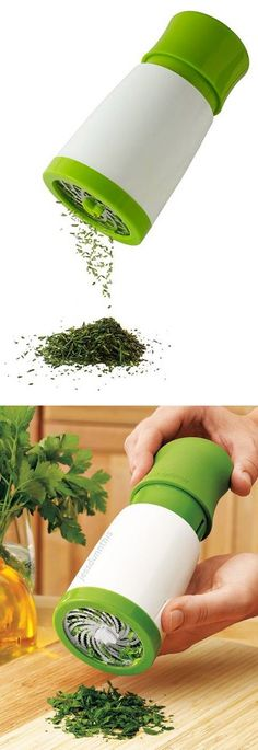 Herb Grinder Mill // with a simple twist, add fresh herbs to meals - Brilliant! #product_design #kitchen http://s.click.aliexpress.com/e/QrvvZJ2