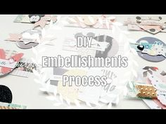 DIY Embellishments // Less Scraps, More Embellies! // Layered Pieces - YouTube