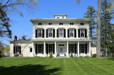 Classic Greek Revival from the 1830's. The Before and After of this home restoration is wonderful. So happy someone saved it!