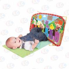 Tapete didáctico musical para bebes de 3-9 meses. Aprenden a Sentir, Ver colores, texturas, movimientos más coordinados. www.lacasadelaeducadora.com