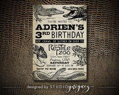 Reptile Birthday Invitation by StudioYniguez on Etsy