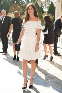 Leighton Meester at Paris Fashion Week