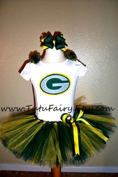 Greenbay Packers Inspired Tutu Set 5 piece set Super by TutuFairy, $46.00 - would totally buy this!!  So cute!!!