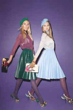 my uniform no. 2.   *clothes/foto by Candice Swanepoel and Lindsey Wixson by Terry Richardson for Purple#17