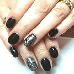 Can't beat a classic black with silver glitter over accents