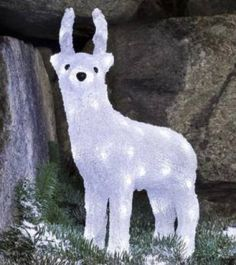 Konstsmide Acrylic 38cm Standing Reindeer with 40 White LED Lights