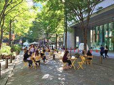 Commercial Center, Commercial Street, Landscape Architecture, Landscape Design, Drawing Furniture, Public Space Design, Urban Park, Urban Design, Outdoor Dining