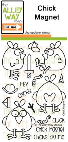 Chick Magnet stamp set, TAWS, The Alley Way Stamp, Clear Stamps, cardmaking, Handmade cards, cards