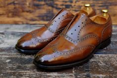 "dandyshoecare:  A transformation of the Church's shoes (born 2007) into something completely different.  ""Un Tocco di Classe"" is not only a name of Patina by Dandy Shoe Care. It is a long process that closes itself a Deep Clean, a Patina, the nutrition of the upper and soles, polishing and final polishing to mirror. A new life for the beloved shoes of Mr.. E.B."